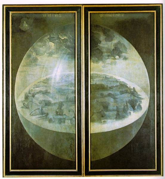 Garden of Earthly Delights outer wings of the triptych WGA